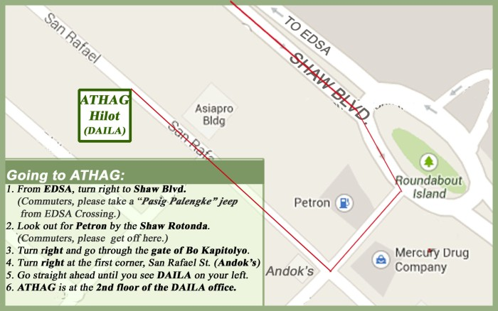 ATHAG location map