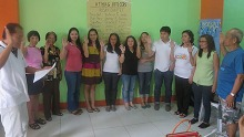 Officers of ATHAG Pasay are inducted into office by Alex B. Candaza.