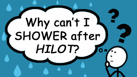 Why can't I take a shower after my Hilot session?   HILOT