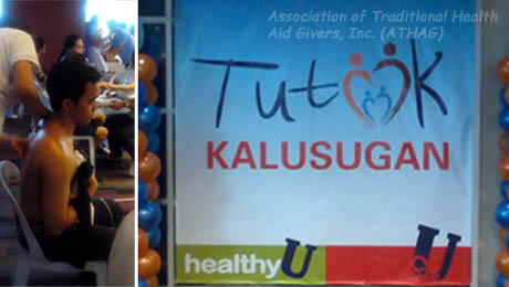 A participant experiences traditional Hilot at Unionbank's Tutok Kalusugan.