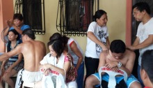 ATHAG therapists perform traditional Hilot during the Hilot mission at Villamor Airbase.