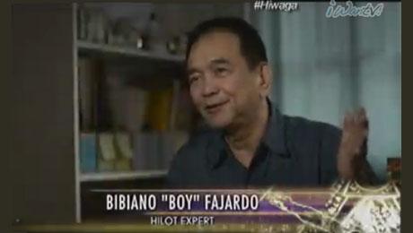 "Dr. Bibiano ""Boy"" Fajardo explains how Hilot works on ABS-CBN's ""Hiwaga."" Screengrab from http://www.iwantv.com.ph/TV/Video/Pinoy-True-Stories-Hiwaga/554/"