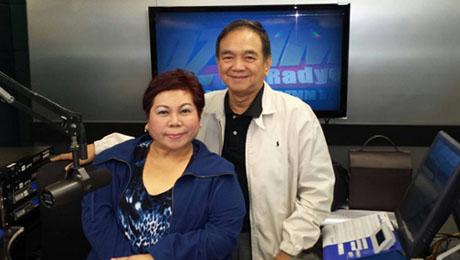 "'Pinoy Vibes' psychic and life coach, Stargazer, with Dr. Bibiano ""Boy"" Fajardo."