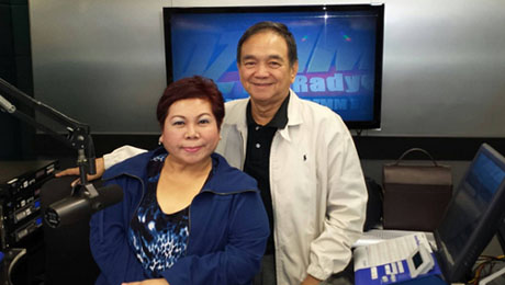 "'Pinoy Vibes' psychic and life coach, Stargazer, with Dr. Bibiano ""Boy"" Fajardo."