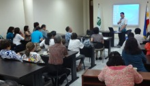 Dr. Francis Ras of PITAHC facilitates the first public hearing for the National Competency Standards for Hilot.