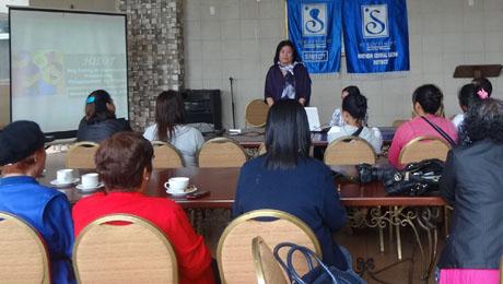 Ms. Aleli Pansacola addresses the participants.